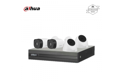 Dahua 2MP 4 Channel Camera Package 2 Bullet Camera + 2 Dome Camera
