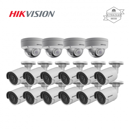 Hikvision 8MP Network Dome & Bullet Camera Package