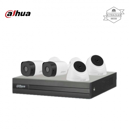 Dahua 5MP 4 Channel Camera Package 2 Bullet Camera + 2 Dome Camera