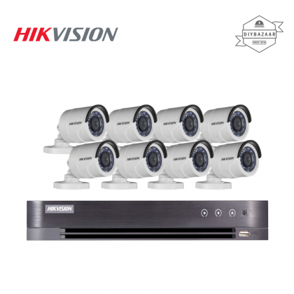 Hikvision 2MP 8 Channel Camera Package 8 Bullet Camera