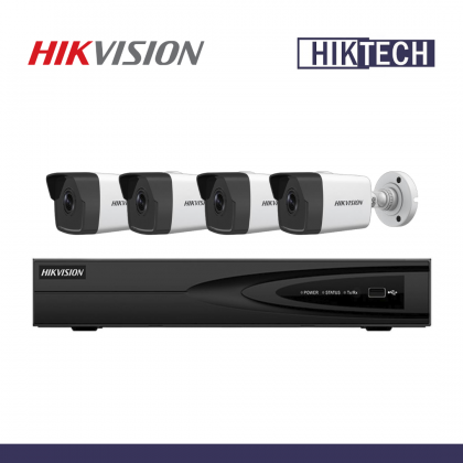 MCO Special Hikvision DS-7604NI-Q1/4P NVR 4CH 2MP Network Bullet Camera Package