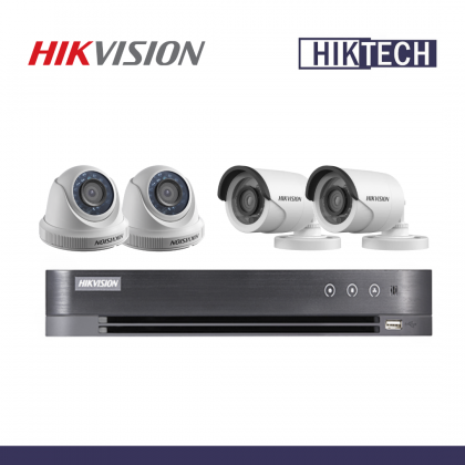 MCO Special Hikvision DS-7204HQHI-K1/E DVR 4CH 2MP Analog Camera Package