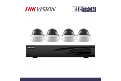 MCO Special Hikvision DS-7604NI-Q1/4P NVR 4CH 2MP Network Dome Camera Package