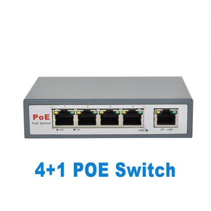 CCTV Accessories  4 Port POE Switch