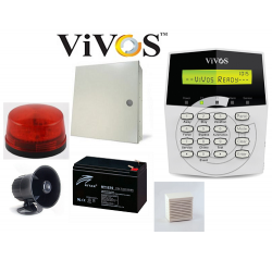 Home Alarm System VIVOS VG1-10Zone Package