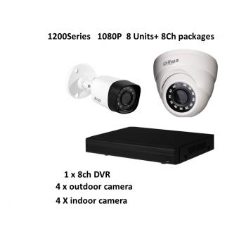 1200Series (Dahua) 1080P HD-CVI 8Ch Package