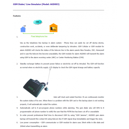 GSM Dialer Terminal/Line Simulator  AGD003