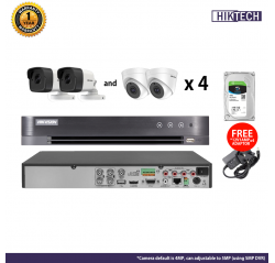 Hikvision 4MP HDTVI 4 Channel Package (with HDD)